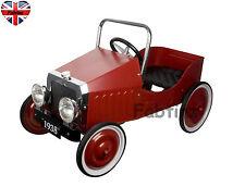 Childrens grande Gizmo Kids Classico Retrò anni'30 VINTAGE RACING auto pedali-Rosso