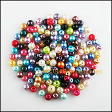 300 New Round Wrinkle Charms Loose Glass Spacer Beads Mixed 4mm