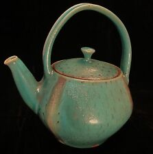 Gorgeous Aqua/Turquoise Teapot with Lid Handmade by NC Potter Courtney Martin