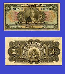 Haiti 1 gourde 1920 UNC - Reproduction