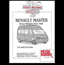 RENAULT MASTER DIESEL  2.5 2.8 WITH & WITHOUT TURBO CHARGER VAN MANUAL