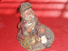 VINTAGE CERAMIC FIGURE HAND MADE & PAINTED& SIGNED FISHERMAN / SAILOR / NAUTICAL