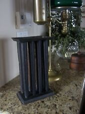"RARE 8 Candle Tin Mold 19th Century 10""  Handle Antique Primitive Hole Taper"