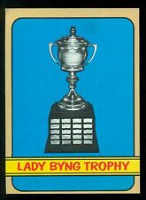 1972 73 TOPPS HOCKEY #175 LADY BYNG TROPHY JOHN BUCYK JEAN RATELLE ON BACK EX-NM