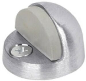 Tell Large, Brushed Chrome Finish, 26D Die Cast Brass Door Stop