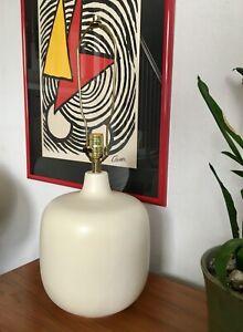 Lotte & Gunnar Bostlund Danish Modern Stoneware Table Lamp Mid Century Modern