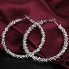 """Unique & Elegant Pure 925 Sterling Silver Big Round Hoop 1.75"""" Earrings"""