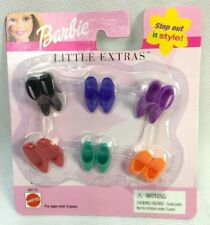 Barbie Little Extras Shoes Orange Purple Black Red Green 2001 Step out in Style