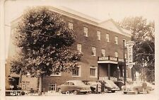 MATANE QUEBEC CANADA HOTEL BERNIER~GREAT CARS~REAL PHOTO POSTCARD 1951