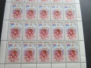 DOMINICAN REPUBLIC FULLSHEET (25stamps) MNH,1957 HEALTH,FANNY BLANKERS KOEN, EX