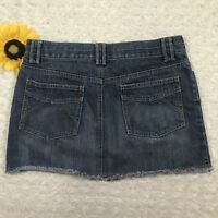 Old Navy Womens Jean Mini Skirt Size 6 100% Cotton Blue Denim er3402