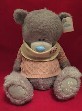 """ME TO YOU BEAR TATTY TEDDY X LARGE 24"""" KNIT JUMPER & SNOOD BOW PLUSH GIFT"""