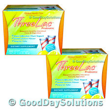 (2) Threelac candida yeast probiotics cleanse Global Health Trax 120 Count