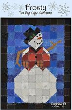 Frosty The Rag Edge Snowman Quilt Pattern By Karla Alexander-Saginaw St. Quilts