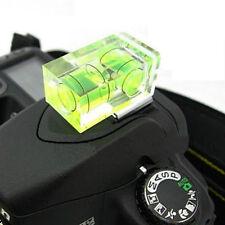 Hot Shoe Two Axis Double Bubble Spirit Level Mount For SLR DSLR Canon Nikon