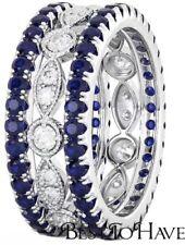 Wedding Sapphire Sterling Silver Fine Rings