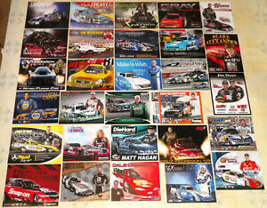 """LARGE COLLECTION OF """"100"""" DIFFERENT OLD&NEW FUEL FUNNY CAR DRAG RACING HANDOUTS!"""