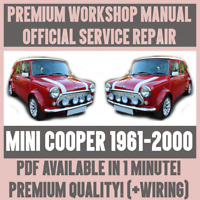 *WORKSHOP MANUAL SERVICE & REPAIR GUIDE for MINI COOPER 1961-2000 +WIRING