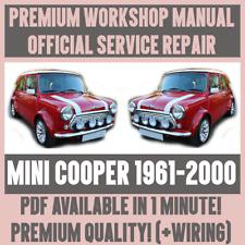 *WORKSHOP MANUAL SERVICE & REPAIR GUIDE for MINI COOPER 1961-2000 +WIRING