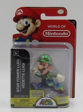 "World Of Nintendo STAR POWER LUIGI 2.5"" EXCLUSIVE NEW 2018 VHTF MIMP Super Mario"