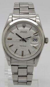 Rolex Oysterdate Precision Vintage Handaufzug Edelstahl Ø 34mm Ref.6694 aus 1984