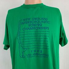 New England Rowing Championships 1983 Single Stitch T Shirt Vtg 80s Made USA XL