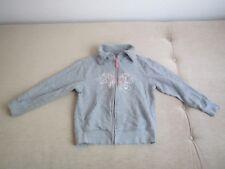 Jacke Shirtjacke Gr. 134/140 in grau mit Schmetterling