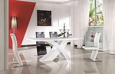 Esstisch hochglanz lackiert weiss Tisch Esszimmertisch Ausziehbar 160/220 x 90cm