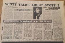 SCOTT WALKER talks about Scott 3  1969  UK ARTICLE / clipping