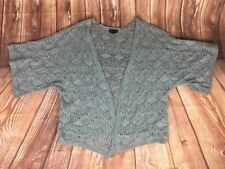 TOPSHOP Women's Short Wide Sleeve Grey Crochet Cardigan 10 38