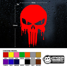 Bloody Red Punisher skull car Décalque Vinyle Sticker For Window Panel Anti-Chocs