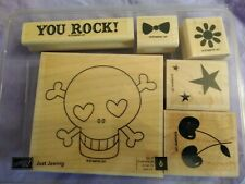 Stampin Up Rubber stamp set of 6 Just Jawing New