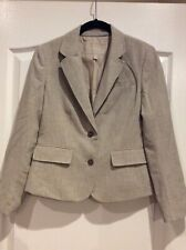 Banana Republic Tan Linen Long Sleeve Blazer Size 4P