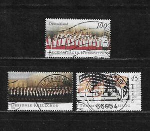 Briefmarken BRD / Bund 2003 Michel-Nr. 2318, 2319, 2320 aus Block 61 gestempelt