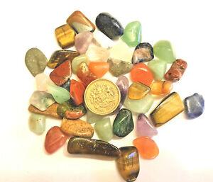 40 Mixed Healing World Crystals Tumble Stones 10-20mm Chakra Gemstones 16p each