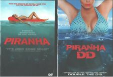 PIRANHA 1-2: The Remake & DD Sequel-Elizabeth Shue+Danielle Panabaker- NEW 2 DVD