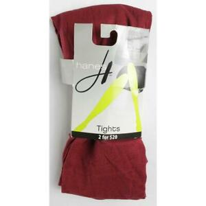 Hanes Control Top Womens L Pantyhose Burgundy Red Solid
