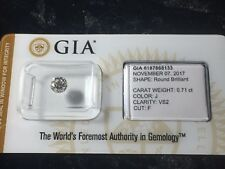 GIA CERTIFIED & SEALED .71ct Round J / VS2 Loose Natural Diamond  5.48 x 3.60 mm