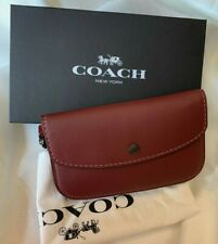 New Coach 1941 Glove-tanned Leather Phone Wristlet Clutch Bordeaux  58818 $195
