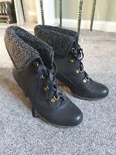Ladies Golddigga Black Lace-up Boots Size 7/41