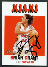 Brian Grant #90 signed autograph auto 2000-01 Topps Heritage Basketball Card
