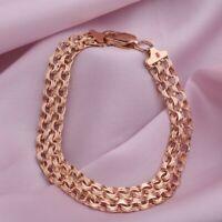 14kt Verschluss 1.0g Halskette Kautschuk Schnur Rose Gold 585 gestempelt