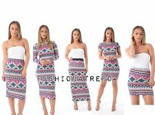 New Ladies Womens Jersey Maxi mini skirt Gypsy Bodycon Summer Dress Size 8-26.