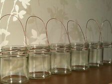 Copper wire Hanging glass jar lanterns rustic wedding candle christmas party