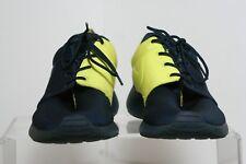 Nike Roshe Run Casual '13 Men 10 Training Athletic Multi Navy Yellow Michigan