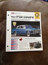 UK 1967-1973 Rover P5B Coupe Hot Cars Group 2 # 26 Spec Sheet Brochure