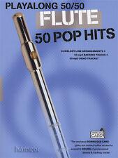 Playalong 50/50 flauta 50 hits Pop Libro De Partituras + Tarjeta de descarga de audio de 6 horas