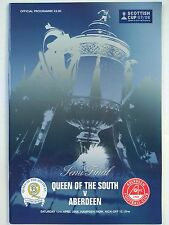 2008 Scottish Cup Semi Final Queen of the South v Aberdeen Mint. VERY RARE