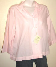 Orvis Wrinkle Free Light Pink 3/4 Sleeve Button Down Shirt Size 18 NWT