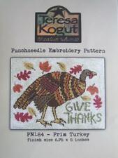 Prim Turkey PN184 Punchneedle Punch Needle Embroidery Teresa Kogut Pattern